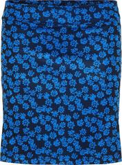 J.Lindeberg Amelie Long Flower Print Womens Skirt Pop Blue Flower Print