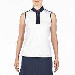 Nivo Andie Mock Womens Polo Shirt White