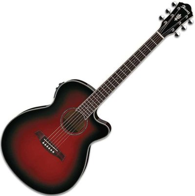 Ibanez AEG 10II Transparent Red Sunburst