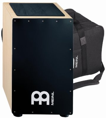 Meinl CAJ7NT-BK Premium Fiberglass String Cajon and Bag