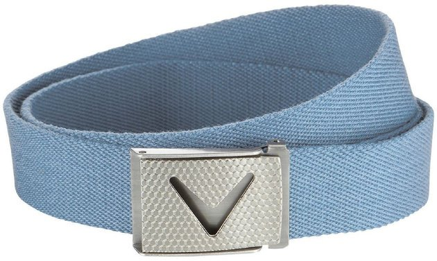 Callaway Cut-To-Fit Solid Webbed Belt Chambray Os Mens