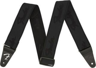 Fender Weighless Strap Running Logo Black