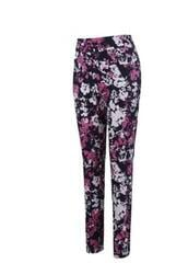 Callaway Floral Printed Pull On Womens Trousers Peacoat
