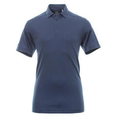 Callaway New Box Jacquard Koszulka Polo Do Golfa Męska Medieval Blue