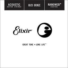 Elixir Acoustic 80/20 Bronze NanoWeb Single .024