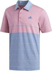 Adidas Ultimate365 Heathered Stripe Mens Polo Shirt Dark Marine/Grey