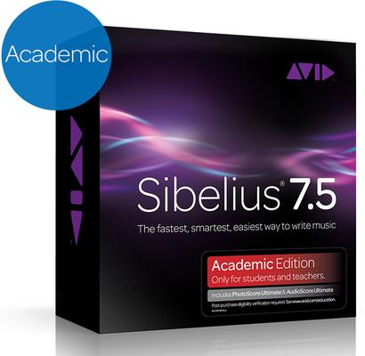 AVID Sibelius 7.5 Academic + PhotoScore and AudioScore Bundle