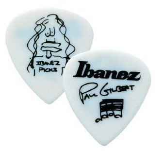 Ibanez 1000PG Picks Paul Gilbert Signature Models White