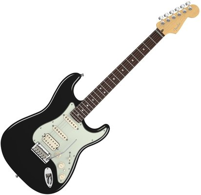 Fender American Deluxe Stratocaster Plus HSS, Maple Fingerboard, Mystic Black