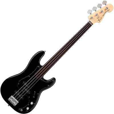 Fender Tony Franklin Fretless Precision Bass Ebony Fingerboard, Black
