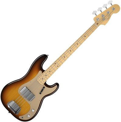 Fender American Vintage '58 Precision Bass, Maple Fingerboard, 3-Color Sunburst