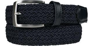 Alberto Gürtel Basic Braided Navy