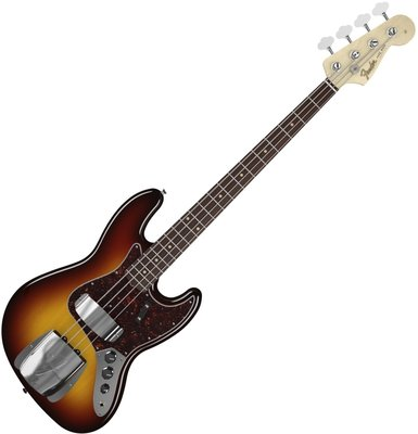 Fender American Vintage '64 Jazz Bass, Round-Laminated Rosewood Fingerboard, 3-Color Sunburst