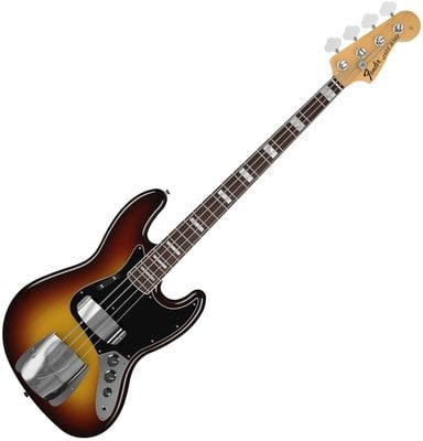 Fender American Vintage '74 Jazz Bass, Bound Round-Laminated Rosewood F-board, 3-Color Sunburst
