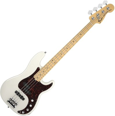 Fender American Deluxe Precision Bass Ash, Maple Fingerboard, White Blonde