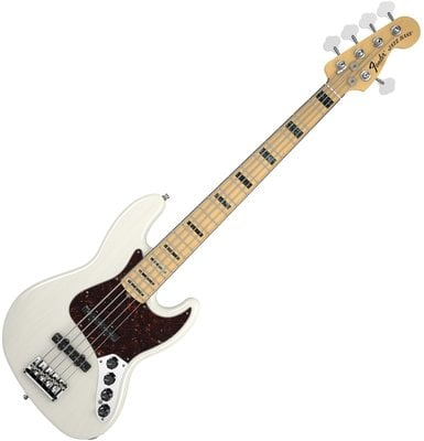 Fender American Deluxe Jazz Bass V (5-String) Ash, Maple Fingerboard, White Blonde