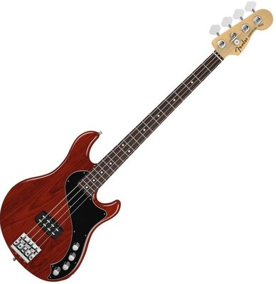 Fender American Deluxe Dimension Bass IV, Rosewood, Cayenne Burst