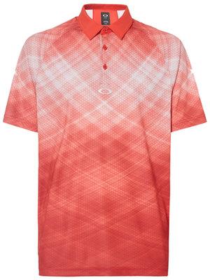 Oakley Barkie Gradient Herren Poloshirt Fire Red M