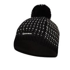 TaylorMade Ladies Bobble Beanie Black 2019