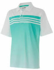 Adidas Climacool 3-Stripes Gradient Jr Polo Shirt White/Green 16Y