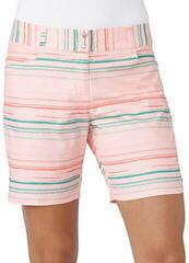 Adidas Printed Stripe 7 Womens Shorts Haze Coral UK 6