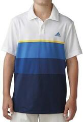 Adidas Climacool Engineered Stripe Boys Polo Shirt White/Yellow 16Y