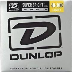 Dunlop DBSBS40100 Stainless Steel Bass Guitar Strings, Light