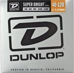 Dunlop DBSBS40120 Stainless Steel Bass Guitar Strings, Light