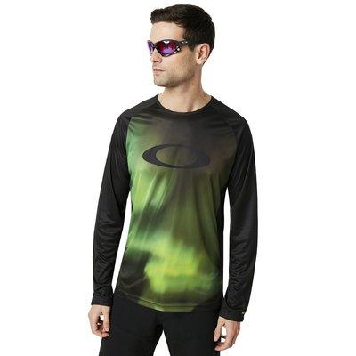 Oakley MTB LS Tech Tee Aurora Borealis XXL
