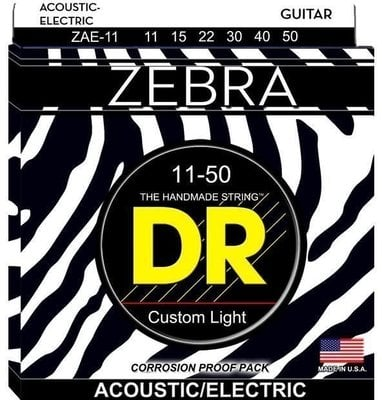 DR Strings Zebra A/E Medium Lite Set 11-50