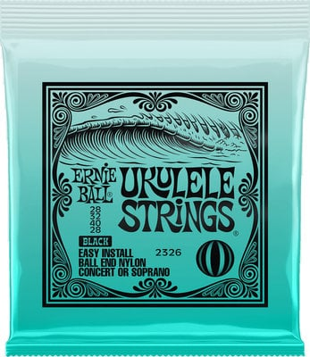 Ernie Ball 2326 Concert/Soprano Ukulele String Set Black