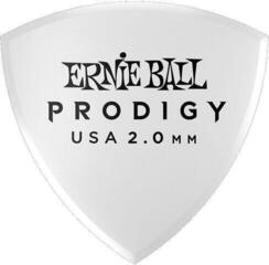Ernie Ball Prodigy Pick 2.0 mm White Large Shield 6-Pack