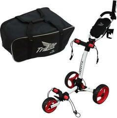Axglo TriLite Golf Trolley Alb/Set convenabil Muziker
