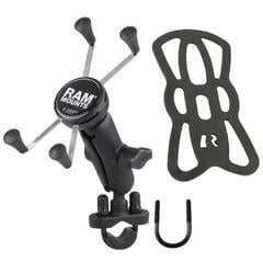 Ram Mounts Handlebar Rail Mount For Large Devices Plastic Suport moto telefon, GPS
