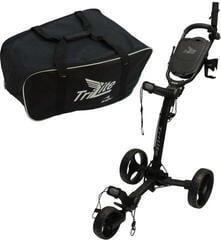 Axglo TriLite Golf Trolley Negru/Set convenabil Muziker