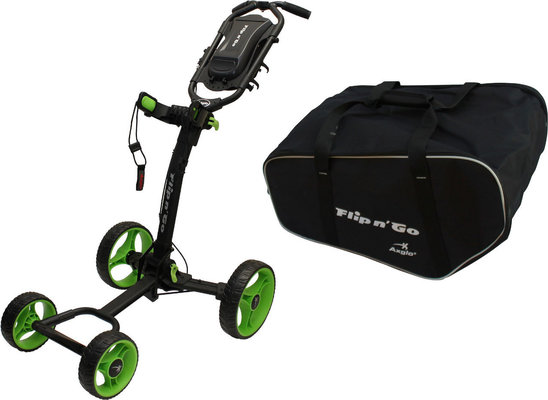Axglo Flip N Go Trolley Black/Green SET