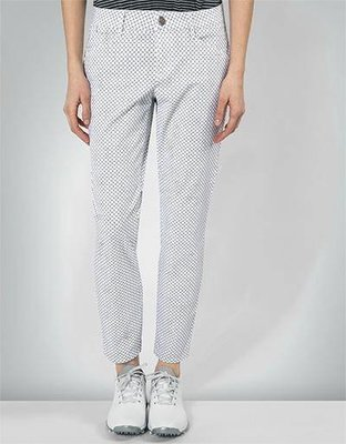 Alberto Mona Waterrepellent Womens Trousers White/Black 32