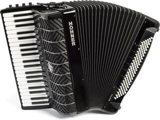 Hohner Mattia IV 120 CR Gun Black/White Key