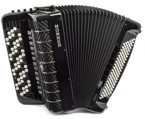 Hohner Mattia IV 120 CR B-Stepped Gun Black/Pearl Key