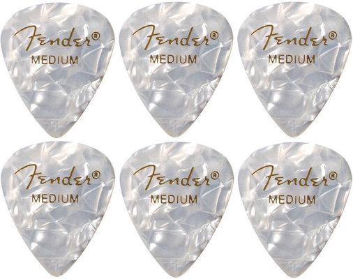 Fender 351 Shape Premium Pick Medium White Moto 6 Pack