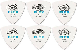 Dunlop 456R 1.0 Tortex Flex Triangle 6 Pack