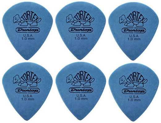 Dunlop 498R10 Tortex Jazz III XL 6 Pack