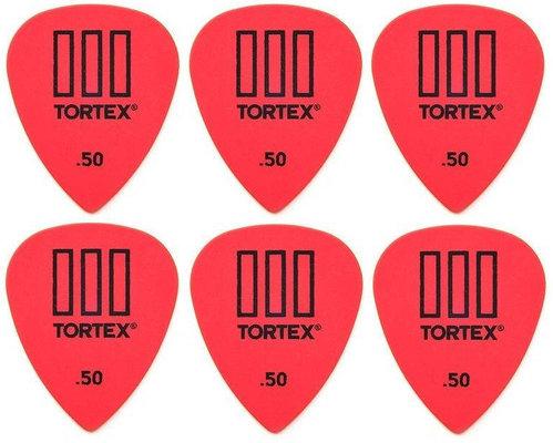 Dunlop 462R 0.50 Tortex TIII 6 Pack
