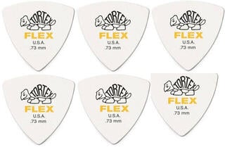 Dunlop 456R 0.73 Tortex Flex Triangle 6 Pack