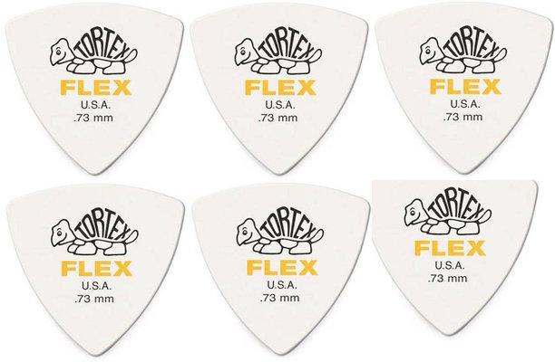 Dunlop 456R 0.73 Tortex Flex Triangle 6 Pack