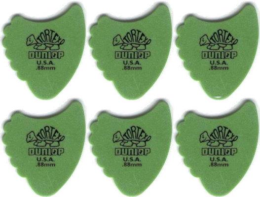 Dunlop 414R 0.88 Tortex Fins 6 Pack