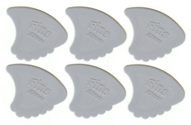 Dunlop 444R 0.67 Gauged Nylon Fins 6 Pack