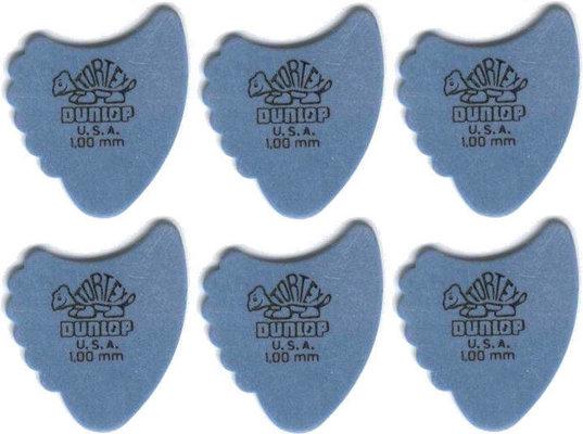 Dunlop 414R 1.00 Tortex Fins 6 Pack