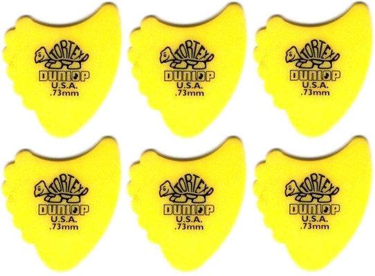 Dunlop 414R 0.73 Tortex Fins 6 Pack
