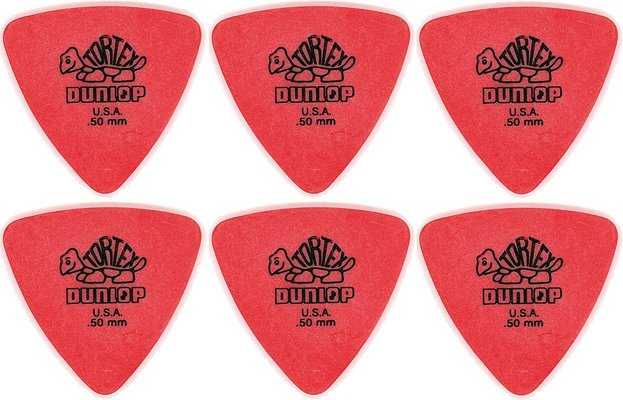 Dunlop 431R 0.50 Tortex Triangle 6 Pack